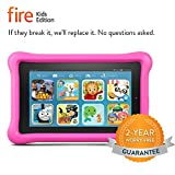 "Fire Kids Edition Tablet, 7"" Display, Wi-Fi, 8 GB, Pink Kid-Proof Case"