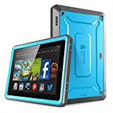 Fire HD 6 Case, SUPCASE [Heavy Duty] Amazon Fire HD 6 Case (4th Generation) 2014 Release [Unicorn Beetle PRO Series] Full-body Rugged Hybrid Protective Case Cover with Built-in Screen Protector for Amazon Fire HD 6 (4th Generation), Blue/Black - Dual Layer Design + Impact Resistant Bumper